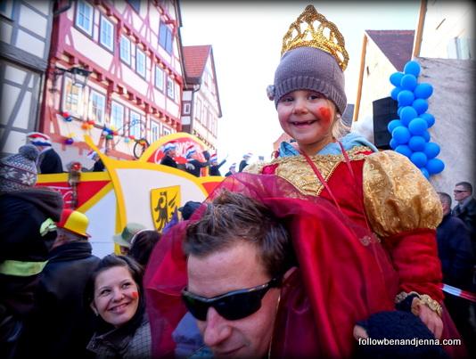 Fasching celebration in German town