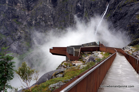 Cantilevered madness on the Geiranger-Trollstigen Tourist Route