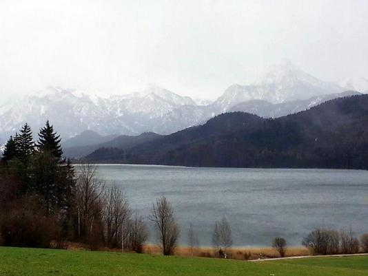 Alps over Weißensee