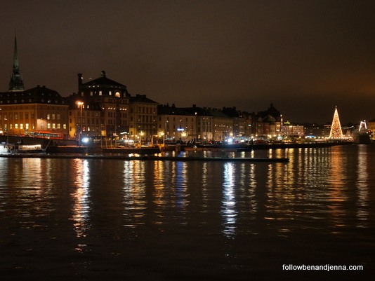 Night view of Gamla Stan from Sodermalm, Stockholm, Sweden