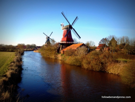 Greetsiel double windmills