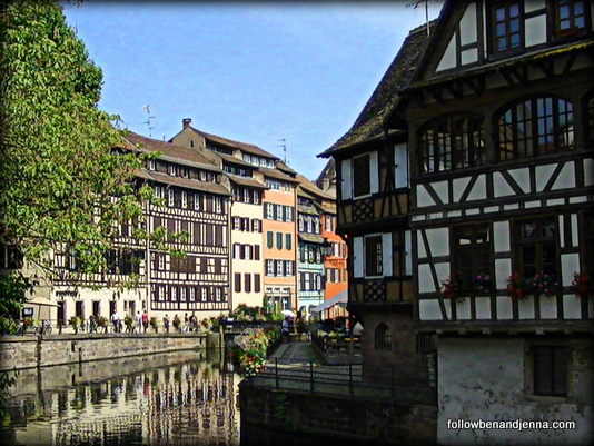 Old town Strasbourg in the Alsace France