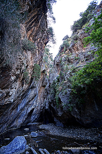Sarakina Gorge canyon near Myrtos in Lasithi Crete