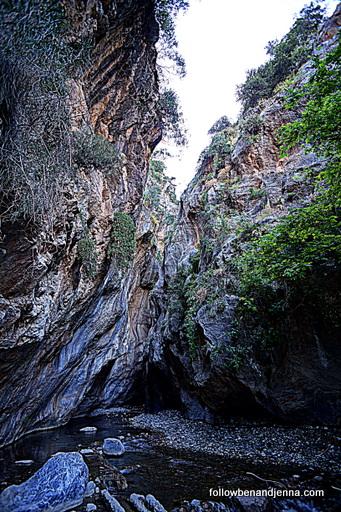 Sarakina Gorge canyon near Myrtos in Lasithi Crete