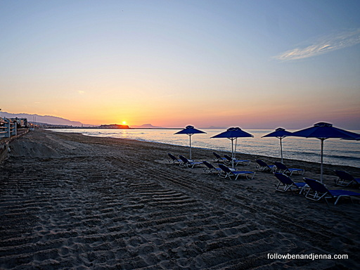 Rethymno Beach Crete Greece