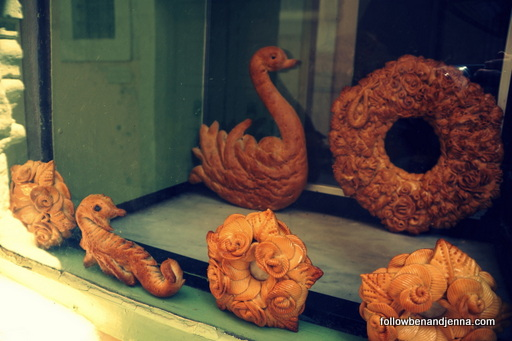decorative bread in Rethymno window, Rethymno, Crete