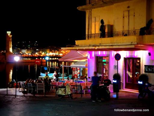 Rethymno Venetian Harbor bars Crete