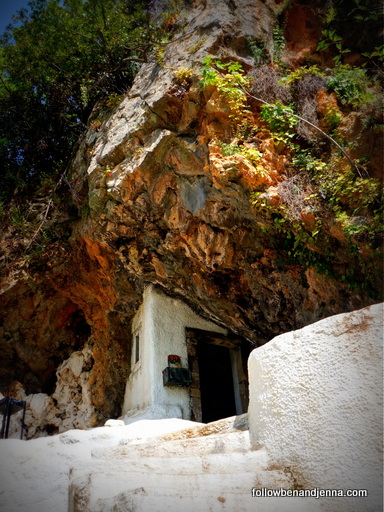 church in rock Aghios Ioannis Argiroupoli Rethymno Crete