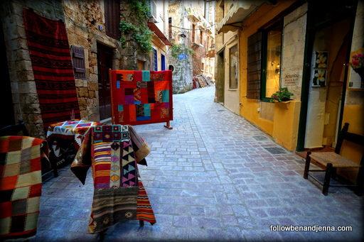 Artisan shops in Chania's Old Town shopping