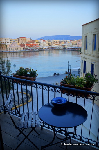 View from Alcanea Boutique Hotel Crete Chania Greece
