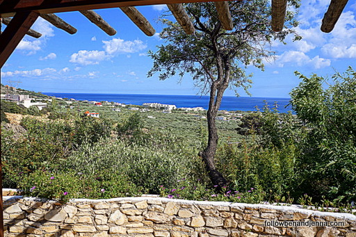 View from Koutsounari Traditional Cottages Crete Greece