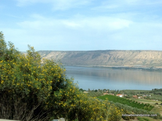 Israel Golan Heights Sea of Galilee