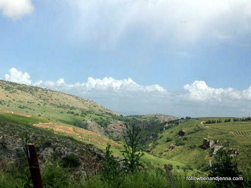 Golan Heights hills Israel