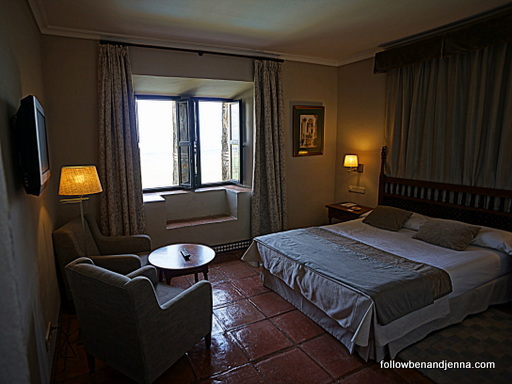 room in front wing of Parador de Carmona