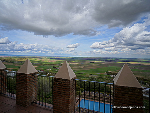 View from terrace of the Parador de Carmona in Spain