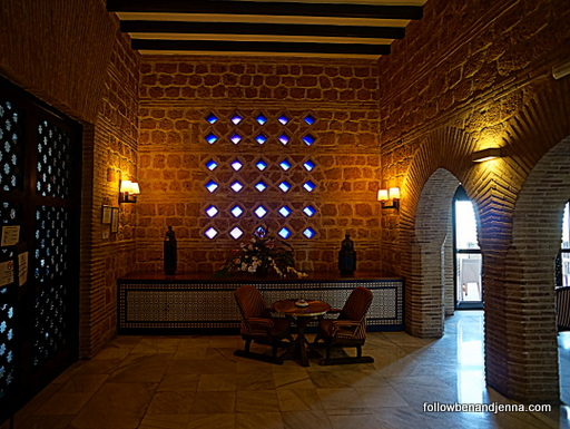 Inside the bar area of the Parador de Carmona, Spain