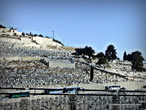 Mount of Olives cemetery in Jerusalem Israel