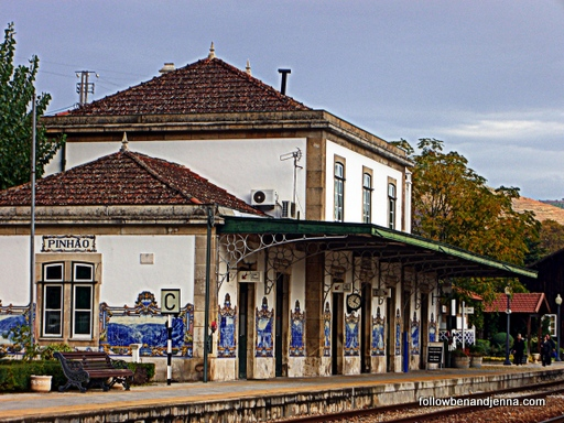 Train station Pinhao Duero Portugal tile