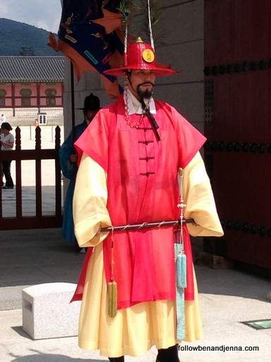 Guard at Gyeongbokgung Palace Seoul Korea