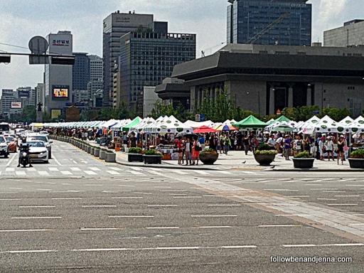 Gwanghwamun Plaza flea market Seoul