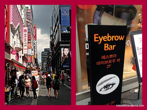 Korea Seoul beauty shops Myeongdong