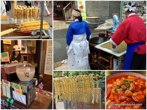 Street food in Insadong Seoul Korea