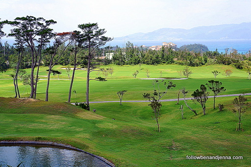 Golf course Ritz Carlton Okinawa Japan