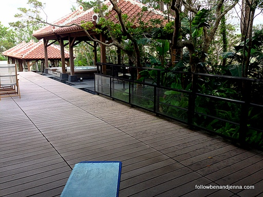 The deck of the Ritz Carlton Okinawa gym and spa, Japan