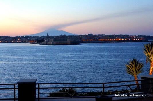 Etna smoke Siracusa italy sicily sicilia